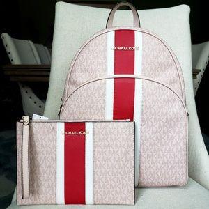 NWT Michael Kors Abbey Backpack & Wristlet Bundle